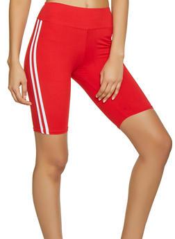 Varsity Stripe Bermuda Bike Shorts - 1411072290207