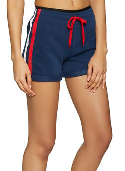 Varsity Stripe Sweat Shorts - 1411072290248