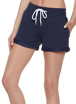 Fixed Cuff French Terry Shorts - 1411072291100