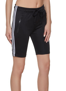 Black Stripe Shorts