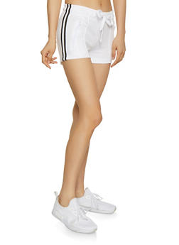 Varsity Stripe Track Shorts - 1411072292119
