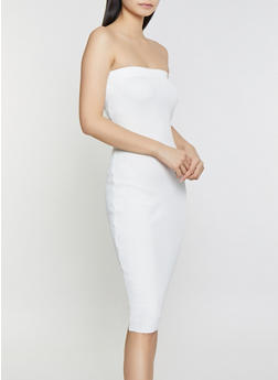 Rib Knit Tube Dress - 1412015991690