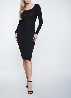 Twist Open Back Sweater Dress - 1412015992700