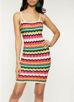 Chevron Knit Cami Dress - 1412015992750