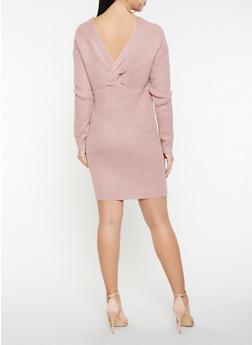 Twist Back Sweater Dress - 1412015996970