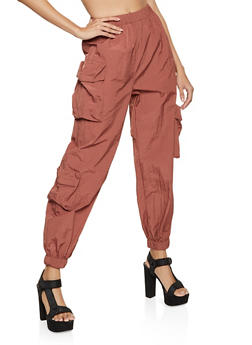 Pull On Cargo Windbreaker Joggers - 1413038206028