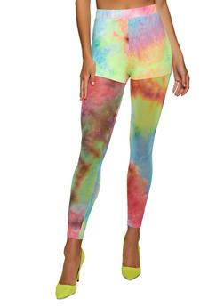 Tie Dye Mesh Leggings - 1413062125387