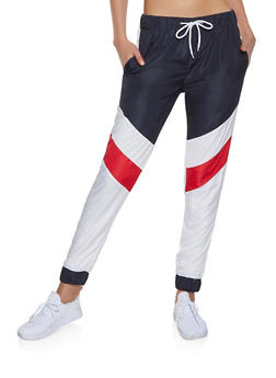 Color Block Windbreaker Joggers - 1413063400021