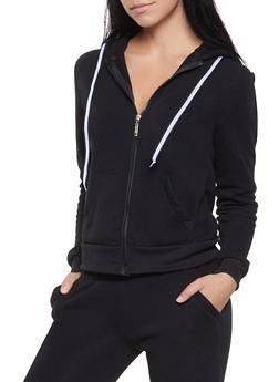 Fleece Lined Hooded Sweatshirt - 1413063400207