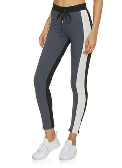 Color Block Soft Knit Activewear Leggings - 1413063401123