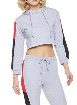 Cropped Color Block Sweatshirt - 1413063401126