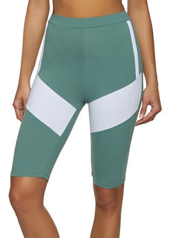 Color Block Soft Knit Bike Shorts - 1413063401989