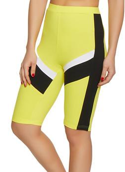 Color Block Soft Knit Bermuda Shorts - 1413063401996