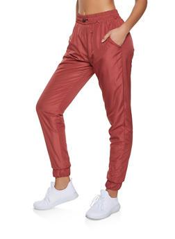 Fleece Lined Windbreaker Joggers - 1413063403799