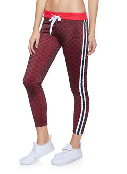 Love Graphic Side Stripe Track Pants - 1413063408167