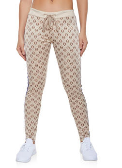 Love Graphic Side Tape Track Pants - 1413063409004