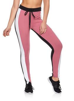 Color Block Soft Knit Pants - 1413063409124