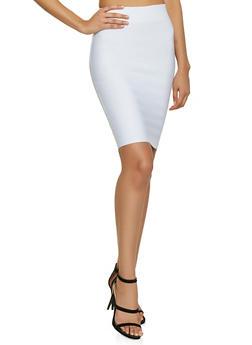 Basic Bandage Pencil Skirt - White - Size S - 1413068197073