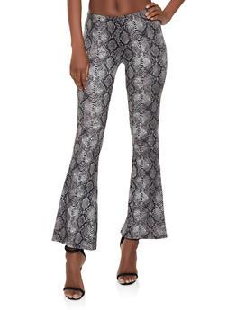 Snake Print Flared Pants | 1413068511350 - 1413068511350