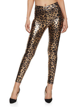 Cheetah Print Spandex Leggings - 1413068511807