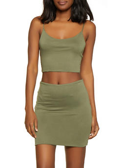 Solid Cami Crop Top - 1413069390009