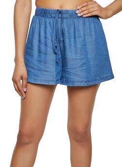 Chambray Shorts - 1413069390055