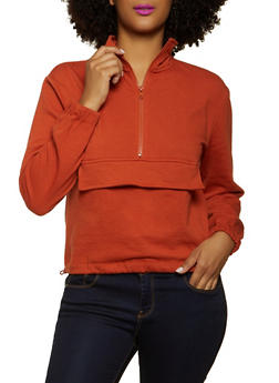 Pouch Pocket Pullover Sweatshirt - 1413069390147