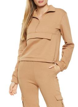 Pouch Pocket Pullover Sweatshirt - 1413069390147