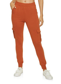 Fleece Lined Cargo Joggers - 1413069390148