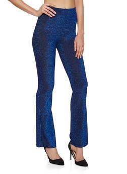 Glitter Knit Flared Pants - 1413069390968