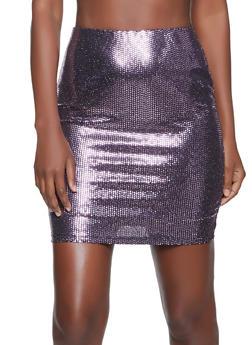 Sequin Polka Dot Mini Skirt - 1413069391314