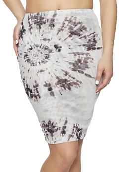 Tie Dye Mesh Skirt - 1413069391322