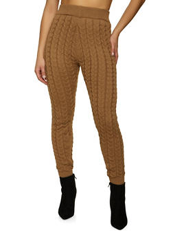 Cable Knit Leggings - 1413069391906