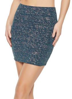 Shimmer Knit Mini Skirt - 1413069395122