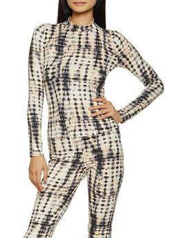 Soft Knit Tie Dye Top - 1413069395375