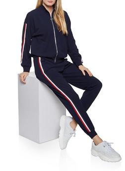 Stripe Detail Track Jacket - 1413069397014