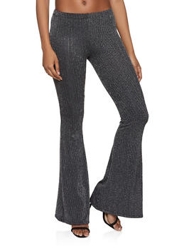 Glitter Striped Flared Pants - 1413072240398