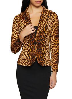 Leopard Print Blazer - 1413072240595