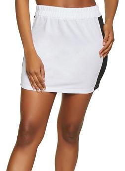 Contrast Trim Active Mini Skirt - White - Size L - 1413072290106