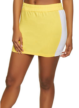 Contrast Trim Active Mini Skirt - 1413072290106