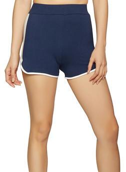 Contrast Trim Dolphin Shorts - Blue - Size M - 1413072290124