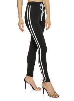 Varsity Stripe Soft Knit Leggings - 1413072290210