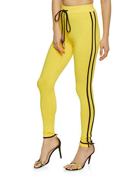 Varsity Stripe Soft Knit Leggings - 1413072290210
