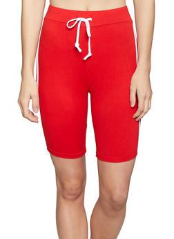 Varsity Stripe Bike Shorts - 1413072290212