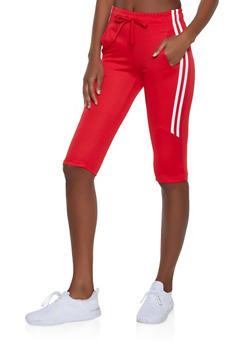 Varsity Stripe Capri Sweatpants - 1413072290228
