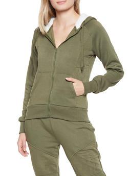 Sherpa Lined Hooded Sweatshirt - 1413072291186