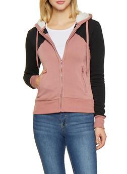 Color Block Hooded Sweatshirt - 1413072291500