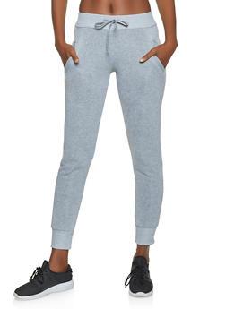Fleece Lined 2 Pocket Joggers - 1413072291777