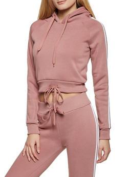 Varsity Stripe Hooded Sweatshirt - 1413072292196