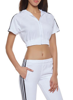Love Patch Cropped Track Jacket - 1413072292689